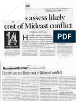 Business Mirror, Jan. 9, 2020, Experts assess likely cost of Mideast conflict.pdf