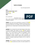 CARTA NOTARIAL QUERELLA