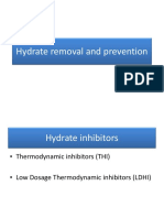 Hydrate inhibition and removal