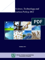 Policies National Science, Technology and Innovation Policy 2012