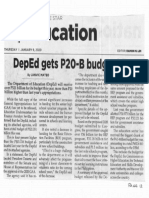 Philippine Star, Jan. 9, 2020, DepEd gets P20-B budget hike.pdf