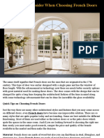 Things to Consider When Choosing French Doors (1)