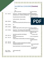 Academic program 2020