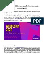 Webdesign 2020
