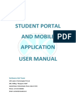 Student Portal & Mobile Application User Manual