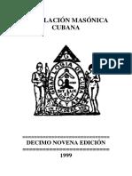 Legislación Masonica Cubana