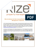Rize Acclaimed the Best Among Residential Property Management Companies