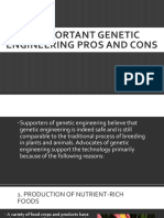 13 Important Genetic Engineering Pros and Cons