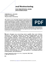 Organizational Restructuring THE IMPACT ON ROLE PERCEPTIONS, WORK RELATIONSHIPS, AND SATISFACTION