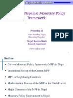 Nepalese Monetary Policy Framework