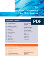 Armstrong (2009) Job Role  Competency and Skills Analysis