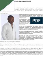 O novo fundo de emprego - Lazarino Poulson - CLUB-K ANGOLA - Notícias Imparciais de Angola