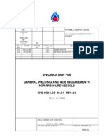 SPC-0804.02-20.04 Rev D2 General Welding and NDE Requirements for Pressure Vessel