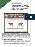 Livestock Census 2019