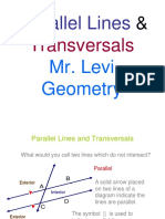 Parallel Lines Cut by a Transversal (1)