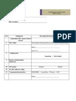 Instrumentation & Automation Site Questionnaire