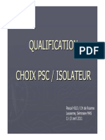 qualification isolateur
