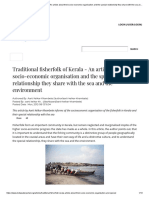 Traditional fisherfolk of Kerala - An article about their socio-economic organisation and the special relationship they share with the sea and the environment