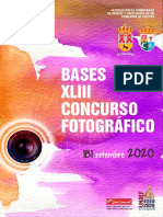 Bases Concurso Fotografia 2020