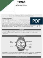 Timex Watch Manual