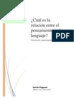 Cuál es la relación entre el pensamiento y el lenguaje