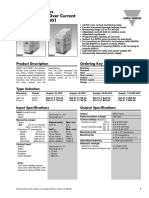Relais à seuil de courant PIA01CB235A datasheet