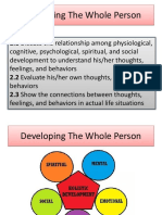 Lesson 2 Developing the whole person