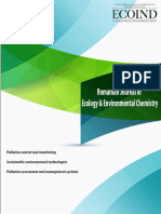ROMANIAN JOURNAL OF ECOLOGY & ENVIRONMENTAL CHEMISTRY