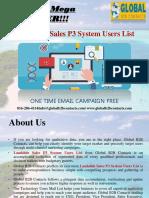 Landslide Sales P3 System Users Data