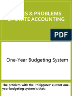 Issues & problems of state accounting