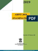 ARPIT exam handbook