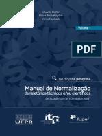 Manual de Normalizacao de relatorios tecnicos e ou cientificos