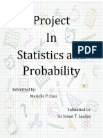 Project in Statistics and Probability Senior High School