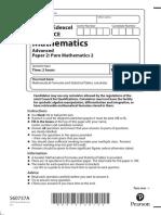 A-Level Mathematics Specimen - Paper 2 Pure Mathematics