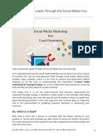 Best Tips to Generate Leads Through Social Media Marketing – GeeksChip