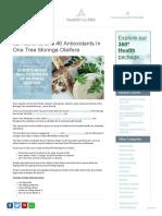 92 Nutrients & 46 Antioxidants In One Tree Moringa Oleifera