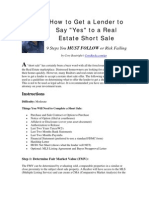 yes Short Sale Negotiations