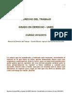 DERECHO DEL TRABAJO. 2014-2015