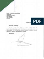 Carta de Marchena al presidente del Parlamento Europeo