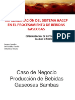 HACCP EN BEBIDAS GASEOSAS