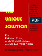 The Unique Solution For Pakistan Crisis, Arab World Problems and Global Terrorism