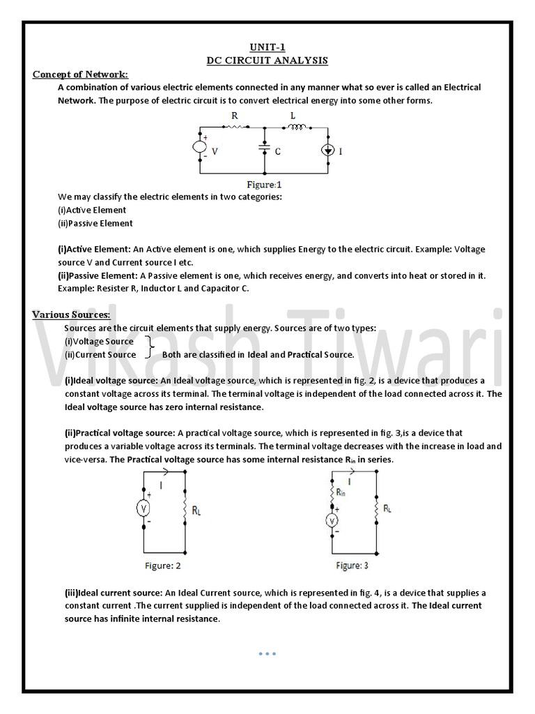 Dc Network Theorem Electrical Series And Parallel Circuits Different Types Of Electric