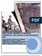 Inclusive Growth Through Financial Inclusion & Initiative by RBI
