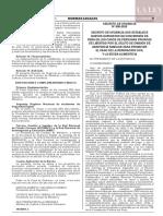 Decreto de urgencia N° 008-2020