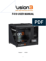 FUSION 3 F410 3D PRINTER MANUAL