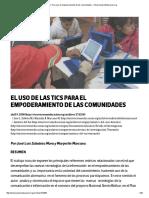 El Uso de Las Tics Para El Empoderamiento de Las Comunidades – OtrasVocesenEducacion