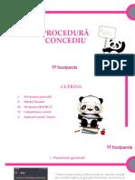 Procedura CONCEDIU ROOSTER