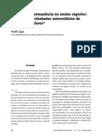 ZAGO_Do acesso à permanência no ensino superior DE CAMADAS POPULARES