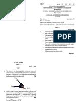 ENGINEERING MECHANICS-I 17ME1104A