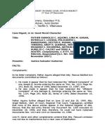 Case Digest Basic Legal Ethics Subject FATHER RANHILIO C. AQUINO, et.al., Complainants, v. ATTY. EDWIN PASCUA, Respondent [A.C. NO. 5095, 28 November 2007]